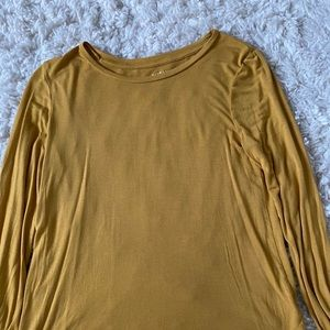 soft yellow long sleeve